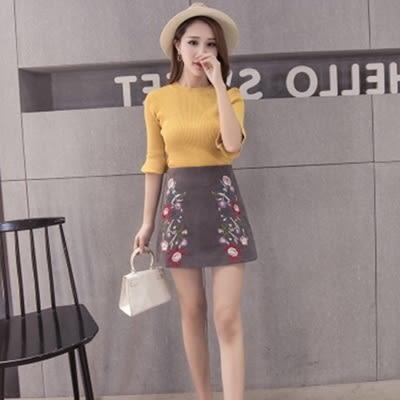 反絨短裙-時尚民族風氣質百搭女裙子3色73kj81[巴黎精品]