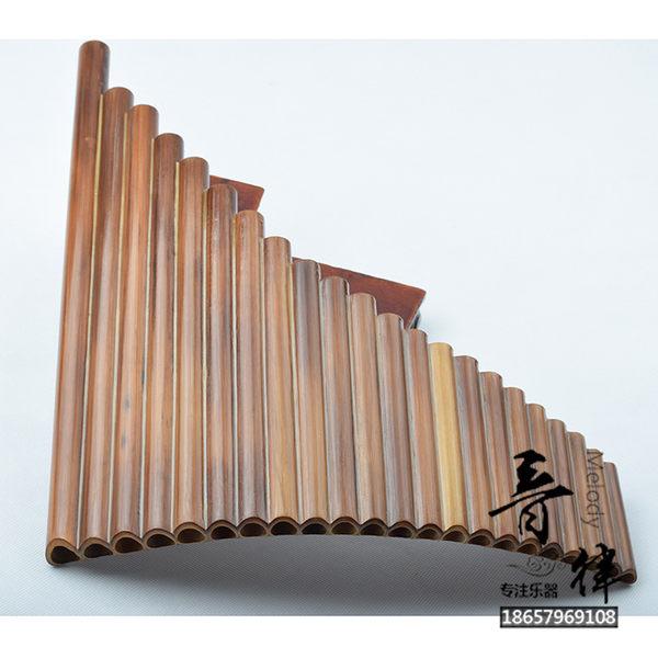 22管排簫苦竹排笛民族樂器吹奏排蕭自學初學【週年慶免運八折】