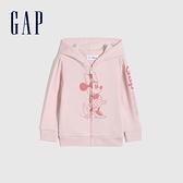 Gap女幼童 Gap x Disney迪士尼聯名 碳素軟磨系列法式圈織 連帽外套 681239-粉色