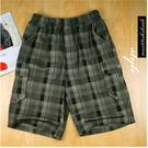 【大盤大】夏 男 M號 五分褲 短褲 側口袋 抽繩褲 潮褲 工作褲 鬆緊褲 圖案 格子 美式 零碼 出清