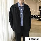 西裝外套 ins外套男春季港風潮流韓版小西裝2021新款男士學生上衣寬鬆西服 酷男