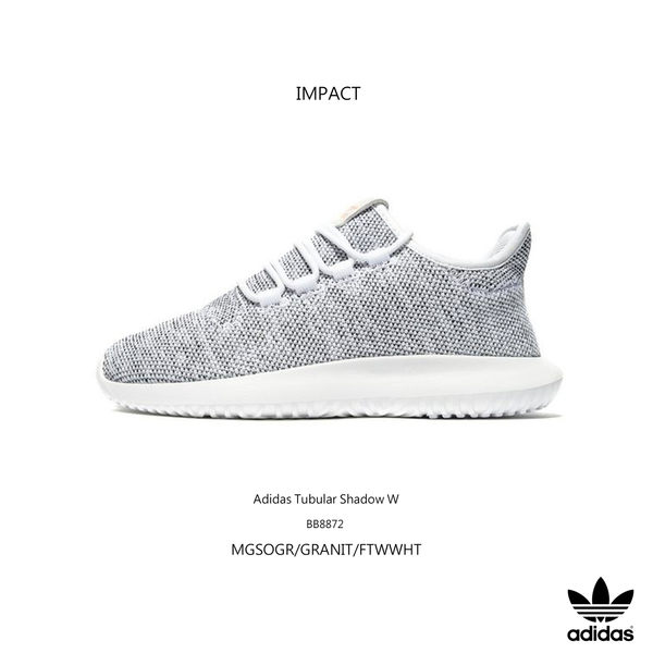 IMPACT Adidas Tubular Shadow W YEEZY小350平民版淺灰粉標休閒鞋雪花BB8872