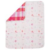【奇哥】森林家族四層紗布被-粉紅(110×135cm)