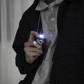 男女潮嘻哈復古閃光照相機可發聲吊墜掛件發光小相機項鍊【奇妙商鋪】