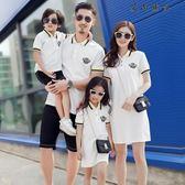 聖誕禮物  親子裝  韓版POLO衫短袖T恤母女裝