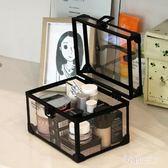 化妝箱大容量便攜箱手提多層專業透明帶鎖工具箱 zm8446【每日三C】TW