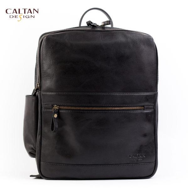 牛皮/後背包【CALTAN】真皮休閒簡約後背包 5420bk