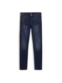 Gap 女裝 民族風格邊飾深色牛仔褲 512488-水洗色