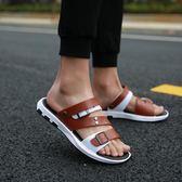 涼鞋-涼鞋男新款夏外穿室外時尚休閒軟底拖鞋男士涼拖夏季沙灘鞋哦 【新品熱賣】