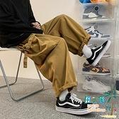 工裝褲 工裝褲男闊腿機能oversize高街褲子原宿港風直筒寬鬆潮流百搭【風之海】