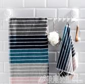 太力毛巾架免打孔衛生間置物架浴室收納廁所毛巾桿吸盤式廚房掛架