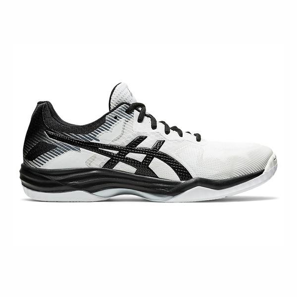 Asics Gel-tactic [1073A032-100] 男鞋 羽球 排球 透氣 輕量 彈性 緩衝 亞瑟士 白黑