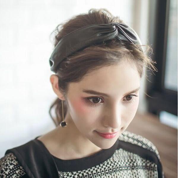 時尚氣質皮質髮帶 髮飾 髮箍