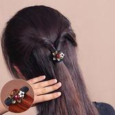 橡皮筋發圈頭繩小清新女皮套頭花加粗耐用扎丸子頭飾品瑪瑙貝殼花