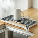 閃閃優品 碗盤瀝水架 放碗筷塑料涼碗洗碗池水槽晾碗架廚房碗碟架 雙十二全館免運
