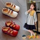 女童皮鞋兒童方頭單鞋小女孩寶寶公主豆豆鞋【淘嘟嘟】