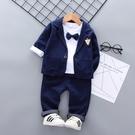 3兒童小西裝套裝男童英倫西服外套2019新款春款1寶寶2花童禮服4歲