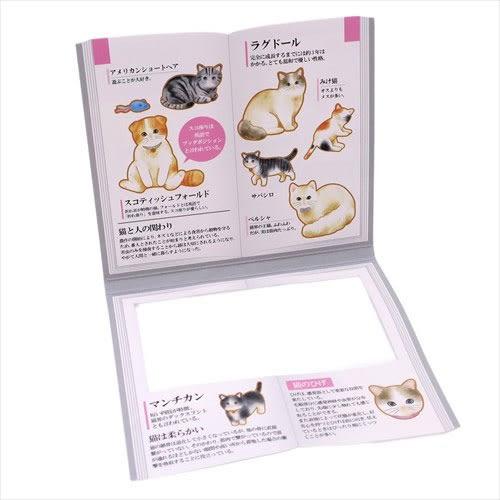 大人圖鑑散裝貼紙包-日本製-30枚入(貓咪篇)★funbox★KAMIO_KM08123