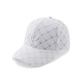 FILA 男女款 復古 老花棒球帽 銀白色 HTV-5104-WT 【KAORACER】