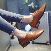 英倫小皮鞋女學生粗跟單鞋女中跟百搭女鞋學院風春季新款鞋子 樂芙美鞋