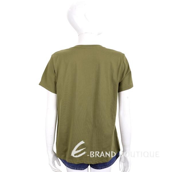 Michael Kors 鉚釘字母橄欖綠純棉短袖T恤 1920191-C9