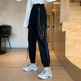秋裝2020年新款女韓版高腰休閒寬鬆顯瘦束腳哈倫褲學生工裝長褲子 【雙十二狂歡購】