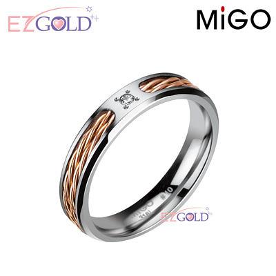 MiGO鋼飾♥擁抱♥鋼飾戒指(女)