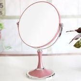 聖誕交換禮物-歐式化妝鏡放大雙面宿舍桌面台式梳妝鏡