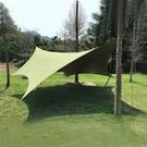 【TiiTENT】 Hexa 棉感六角蝶型天幕《軍綠》THXY-670