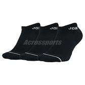 Jordan 踝襪 Jumpman Socks 3雙入 黑色 基本款 襪子 男女款【ACS】 SX5546-010
