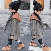 童裝男童外套秋裝2018新款洋氣寶寶呢子大衣加絨兒童毛呢加厚冬裝 藍嵐