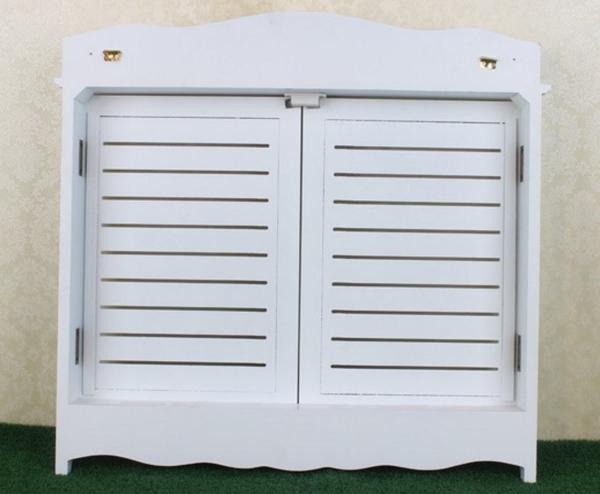 田園風格 白色百葉窗 牆壁掛飾牆飾壁飾 配電箱電表箱電錶箱變電箱電箱 遮擋裝飾用窗框(中)