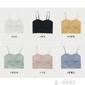 蕾絲內衣K姐 莫代爾 加寬蕾絲文胸 六色選可拆卸胸墊背心式性感內衣吊帶女 夏季上新