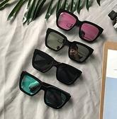 夏季新款眼鏡女潮復古黑超圓臉方框太陽鏡韓版彩膜反光墨鏡男 糖糖女屋