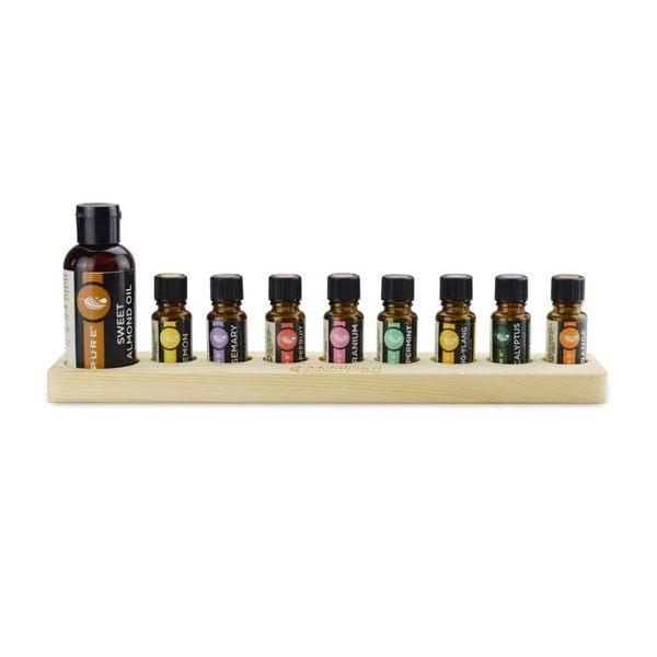 鬆木精油展示架 精油收納盒適用美樂家精油 甜杏仁基底油15ml精油 格蘭小舖