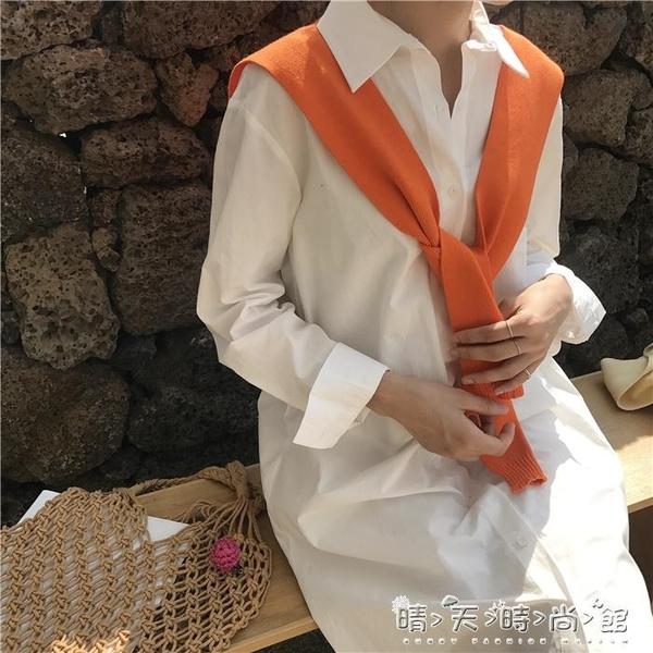 配襯衫的打結小披肩女冬季針織假兩件韓版情侶百搭短款外搭假領子 晴天時尚館