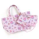 ♥小花花日本精品♥MA茉莉兔兔媽媽滿版圖案-花粉色手提袋防水提袋附化妝包錢包組三物組42167709