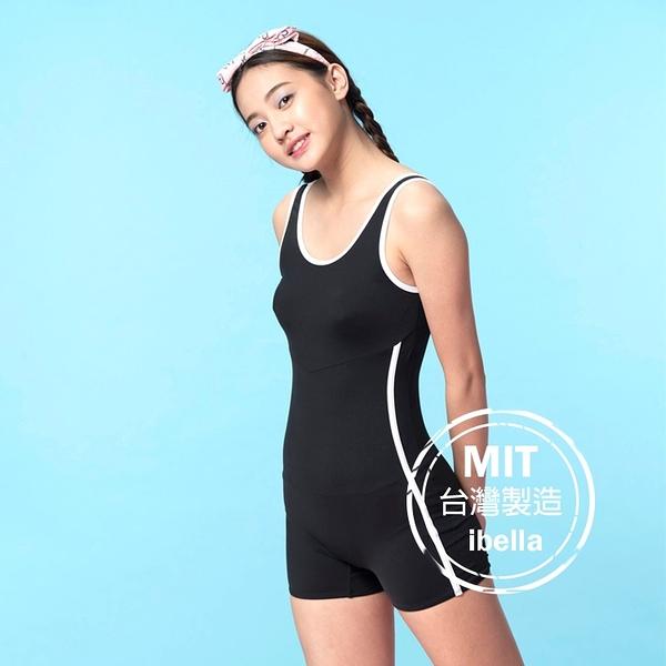萊卡壓條平口連身褲泳裝泳衣(附帽)現貨台灣製造美國杜邦萊卡【36-66-820125-21】ibella 艾貝拉
