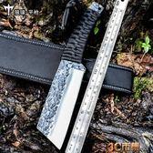 防身 軍工刀高硬度直刀手工鍛打戶外隨身野外求生開刃刀軍刀 全館免運