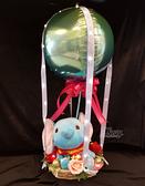 38cm小飛象幸福熱氣球,情人節禮物/熱氣球/金莎花束/亮燈花束,節慶王【Y028245】