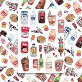 整張復古飲料零食甜食卡通行李箱貼紙旅行箱貼畫滑板吉他電腦車貼【韓衣舎】