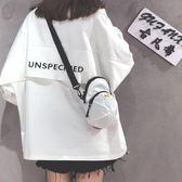 包包女潮韓版百搭斜背包原宿學生小腰包單肩    琉璃美衣