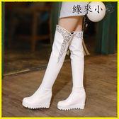 單靴子女鞋春秋冬季長靴高筒靴