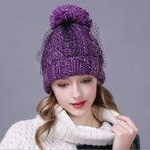羊毛帽-韓版加厚流行百搭女針織帽3色73id32[時尚巴黎]