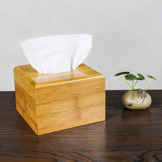 簡約竹制面紙盒(小) 抽取 桌面 抽紙 衛生紙 餐巾 浴室 餐廳 紙巾 簡約 汽車【Q233】MY COLOR