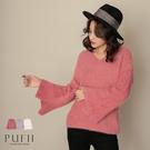 現貨◆PUFII-針織上衣 喇叭袖毛海針織毛衣-1217 冬【CP17746】