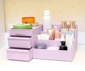一件8折免運 塑料桌面收納盒創意雜物整理辦公桌面化妝品刷儲物盒置物架xw
