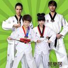 純棉成人兒童跆拳道服長袖短袖男女抬跆拳道