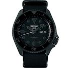 SEIKO 精工 5 Sports 系列潮流機械錶 4R36-07G0F(SRPD79K1)-黑帆布/42.5mm