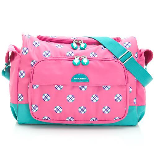 斜背包 金安德森 英倫泡泡  媽咪真偉大超大容量萬用包-粉色泡泡